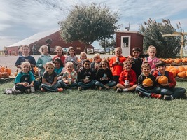Elementary Students at P Bar Farms Corn Maze