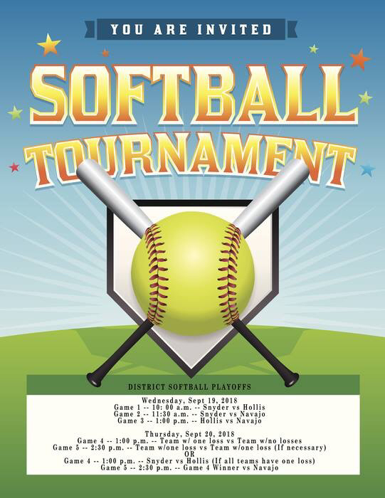 Softball tournament schedule
