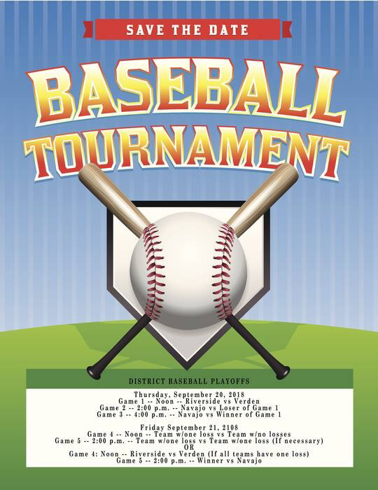 Baseball tournament schedule