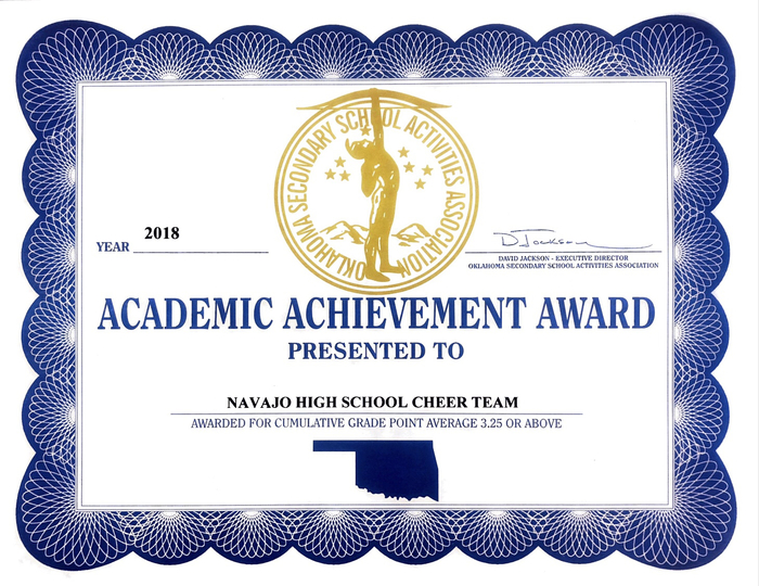 Cheer Academic Award