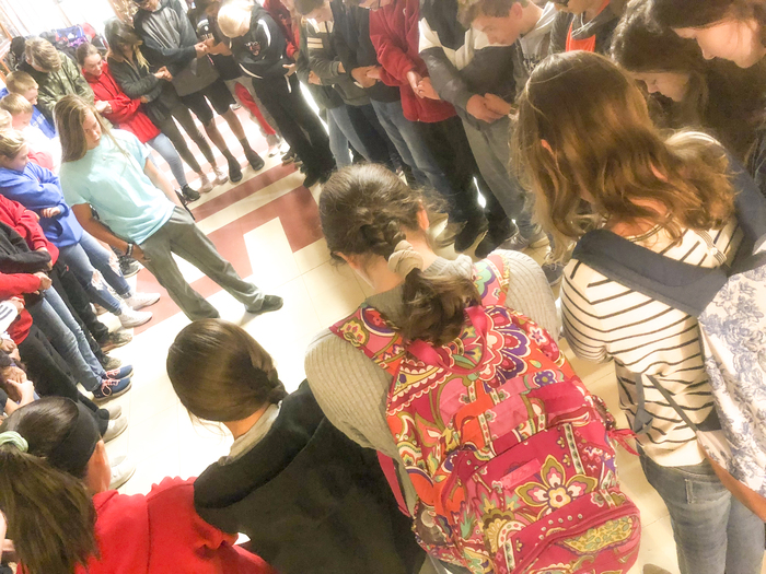 Student-led prayer circle