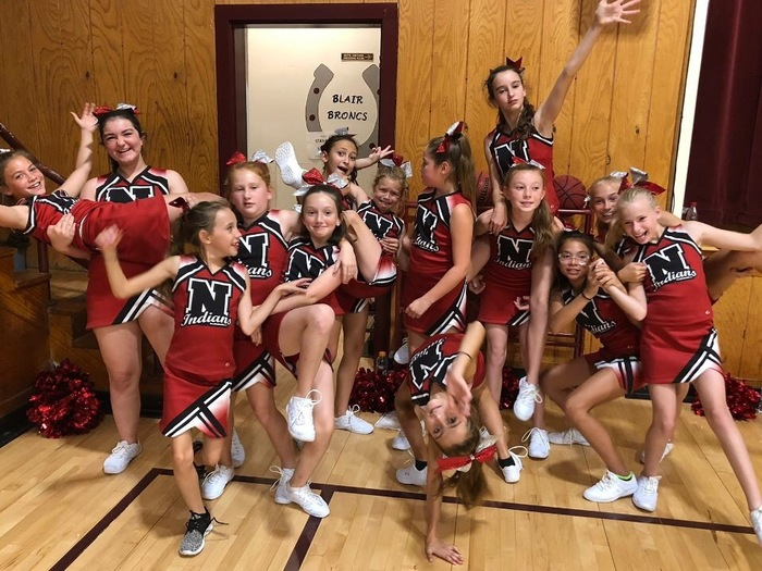 Navajo Elementary Cheerleaders having fun!