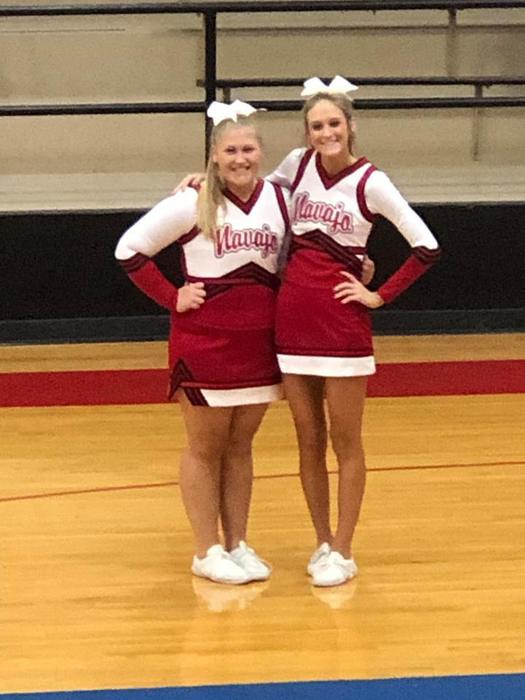 Amanda Davis and Kalee Cross All-Region Cheer Squad