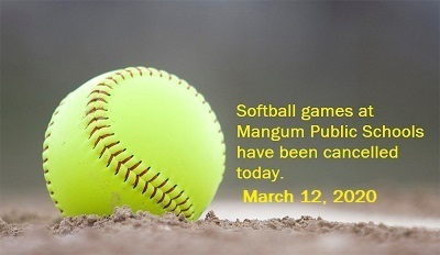 Softball Schedule Change