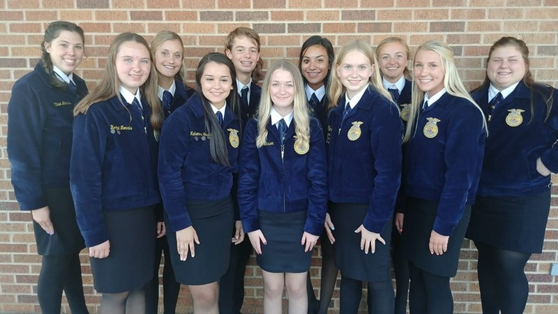 Navajo FFA students participated in the JR. CDE contest held at Blair on September 24, 2019.